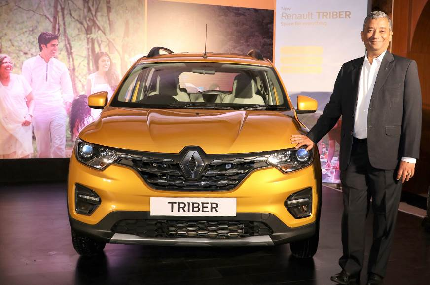 Renault India CEO and MD Venkatram Mamillapalle at the launch of the Triber.