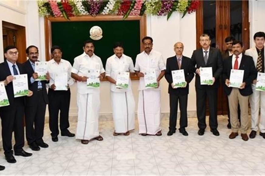 The chief minister of Tamil Nadu, E Palaniswami; senior b...