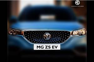 MG ZS EV officially teased ahead of India launch