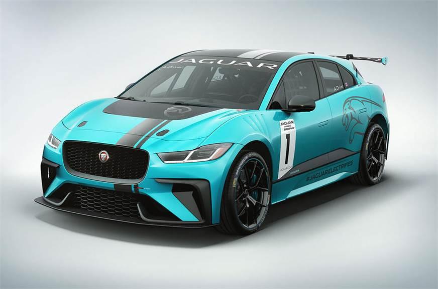 Jaguar I-Pace eTrophy race car used for representational purposes.