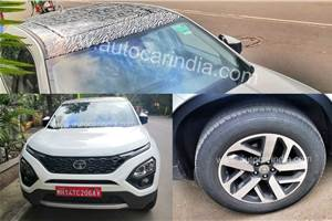 Top-spec Tata Harrier with panoramic sunroof spied