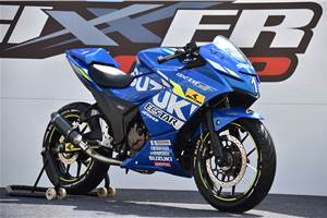 Suzuki Gixxer SF 250 MotoGP edition race bike unveiled