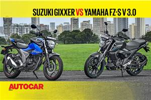 2019 Suzuki Gixxer vs Yamaha FZ-S v3.0 comparison video