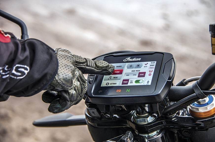 Touchscreen instrument cluster is crisp and responsive.
