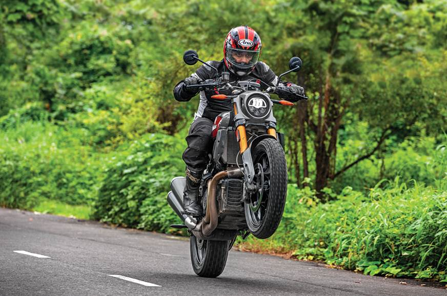 You don't need a dirt track to have fun on this Indian