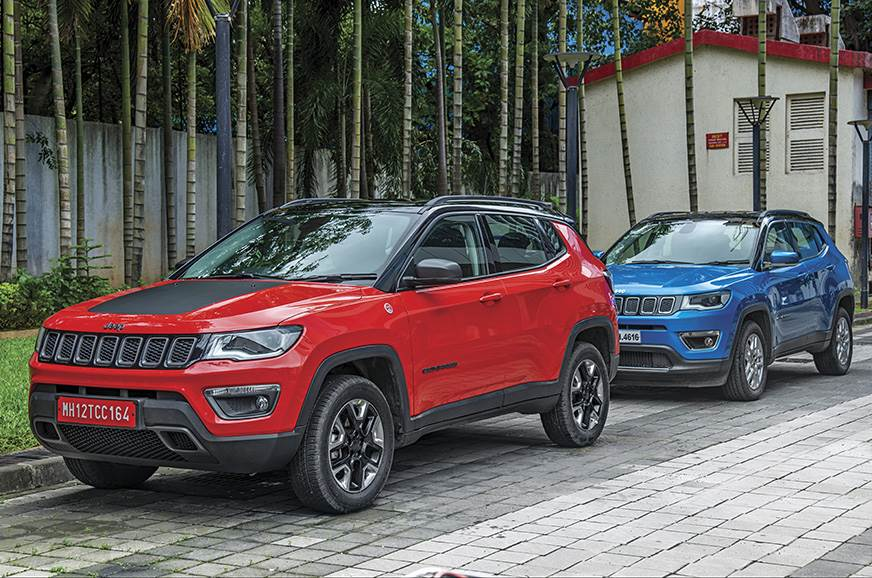 The Trailhawk's chin is higher off the ground than the re...