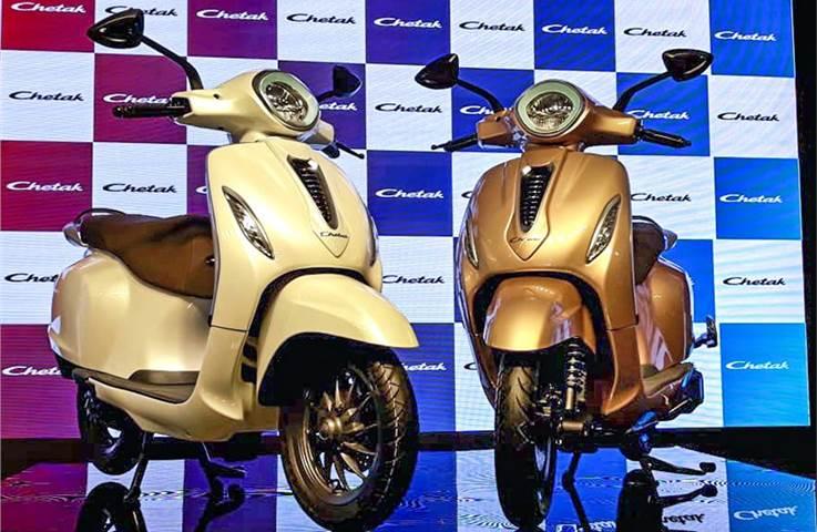 Bajaj Chetak electric scooter revealed