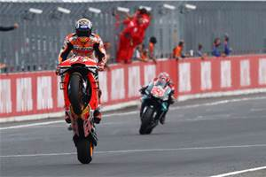 Honda clinches constructors' title as Marquez wins Japanese MotoGP race