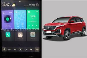 MG Hector gets Apple CarPlay, improved Voice Assist