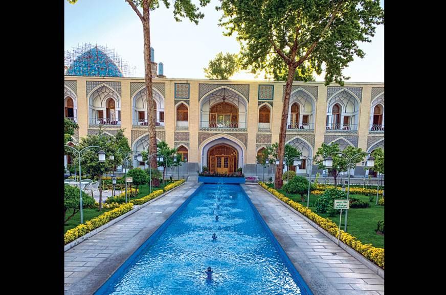 300-year-old Abbasi Hotel was once a caravanserai.