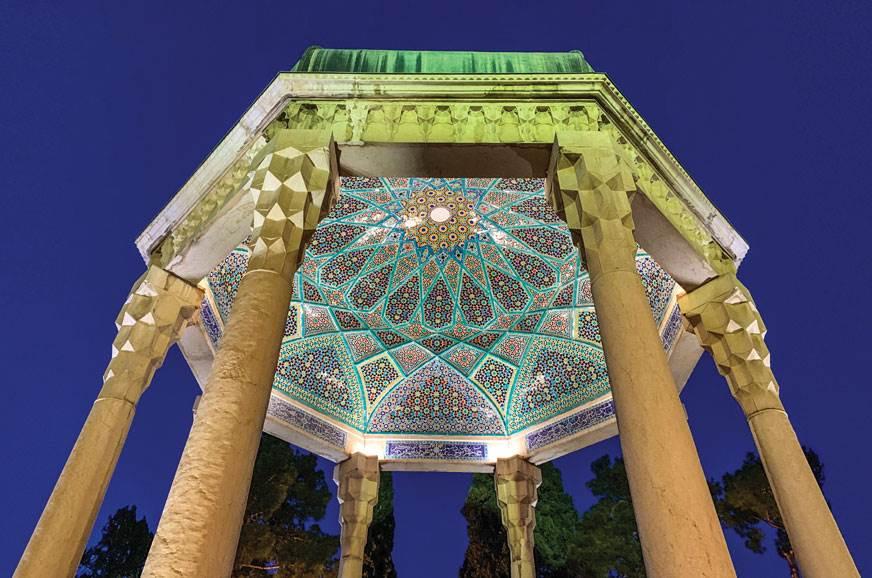Stunning memorial of poet Hafez at Shiraz.
