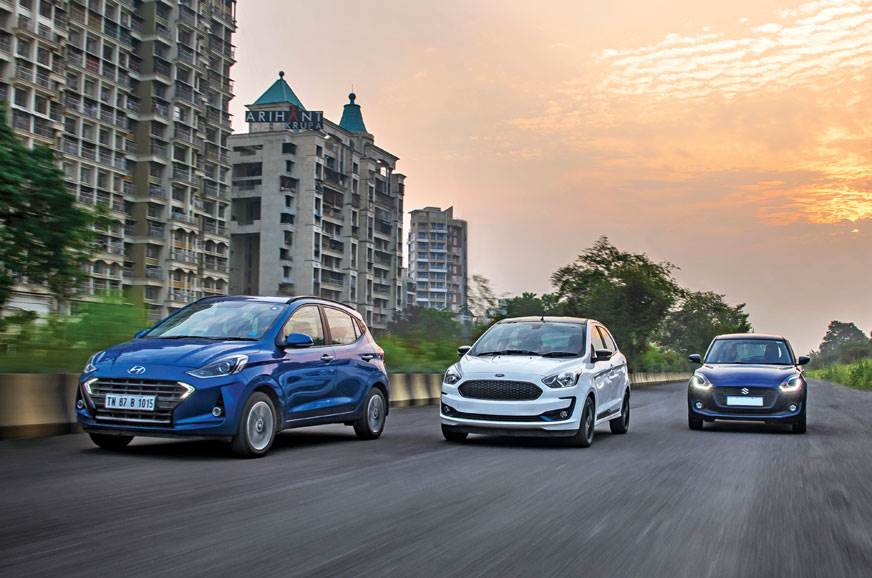 Grand i10 Nios vs Swift vs Figo petrol comparison