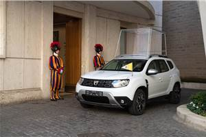 Renault gifts modified Duster to the Vatican