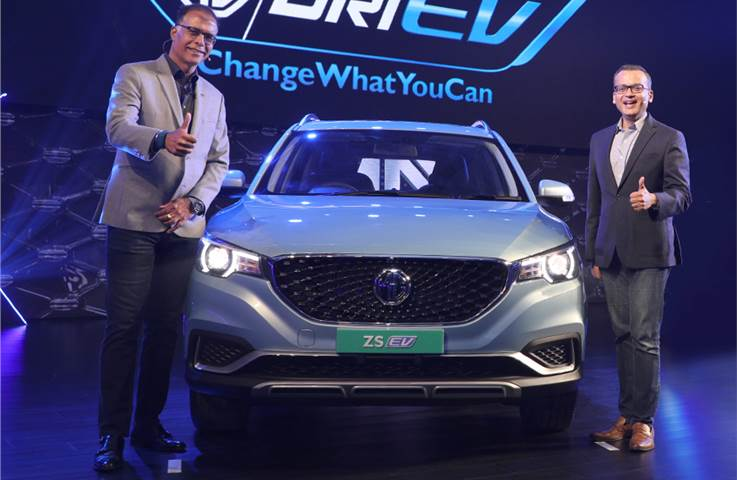 MG ZS EV debuts in India ahead of January 2020 launch