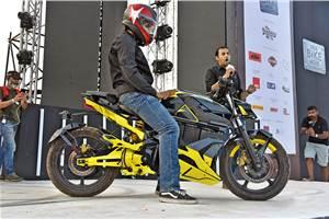 Orxa Mantis electric bike unveiled at India Bike Week 2019