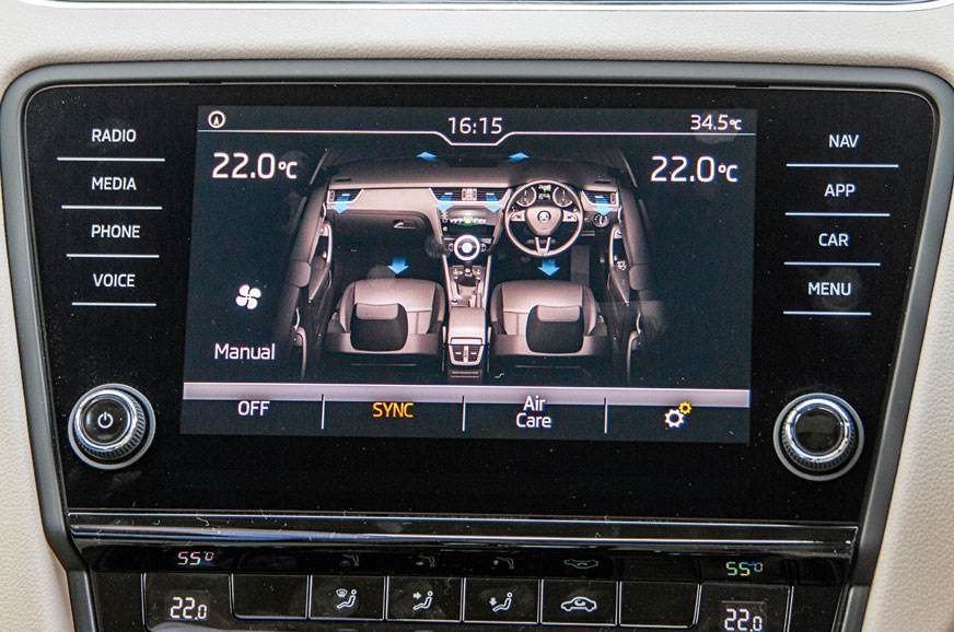 Octavia's 8.0-inch touchscreen is slickest to use.