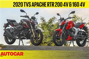 2020 TVS Apache RTR 160 & 200 BS6 video review
