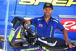 TVS' Michael Metge withdraws from 2020 Dakar Rally due to injury