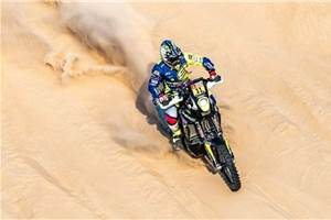Dakar 2020: TVS' Adrien Metge holds on to 12th place after shortened Stage 10