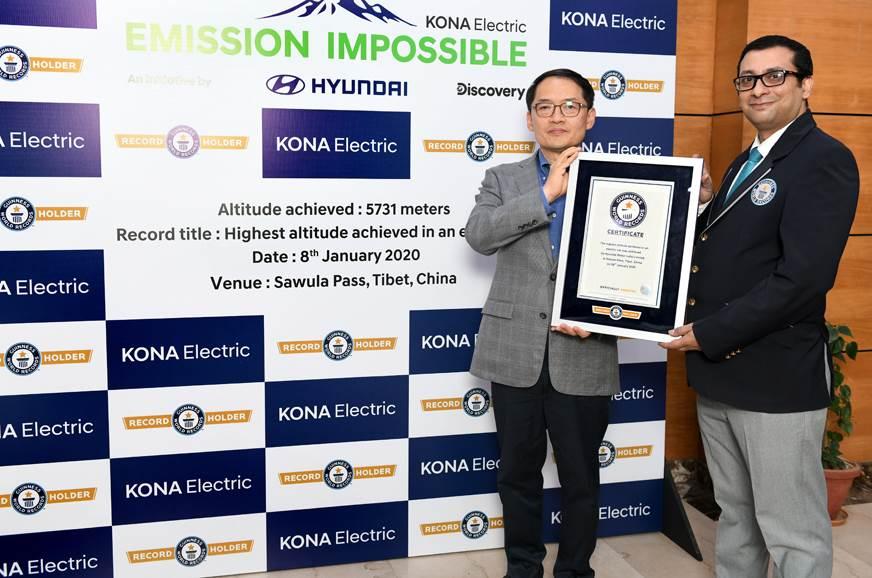 Hyundai Kona Electric SUV sets new Guinness world record