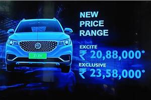MG ZS EV launched at Rs 20.88 lakh