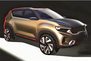 Kia compact SUV teased ahead of Auto Expo 2020