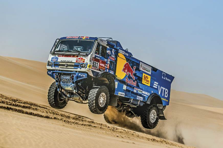 The Kamaz Master team dominated the rally in a spectacula...