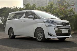Toyota Vellfire India launch on February 26