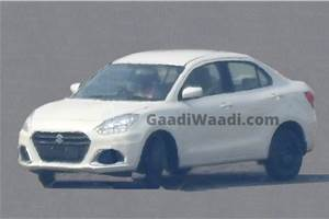 Maruti Suzuki Dzire facelift spied ahead of launch