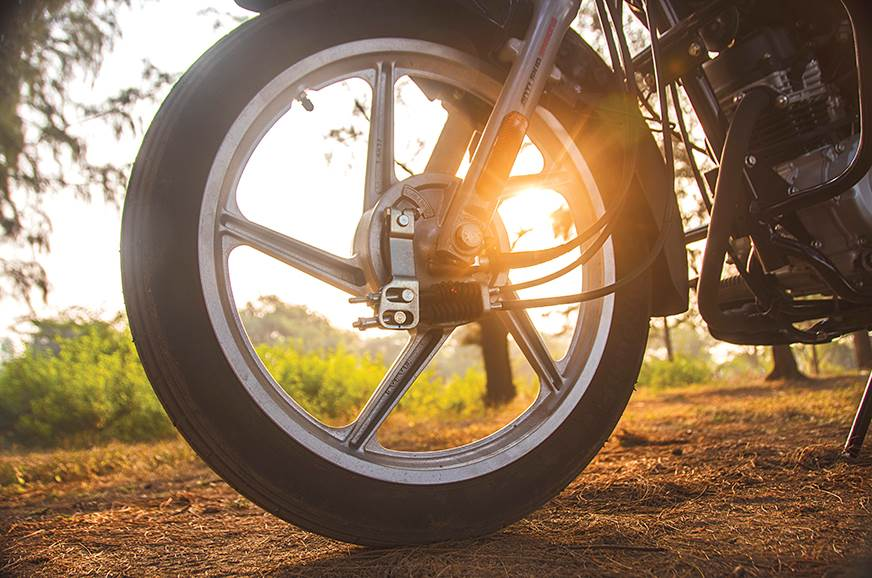 Both use drum brakes, but the CT100's are significantly b...