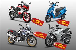 Tempting discounts on BS4 scooters, bikes in stock