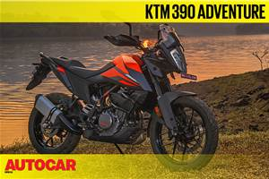 KTM 390 Adventure road test video review