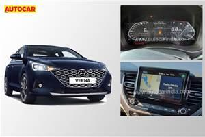 India-spec Hyundai Verna facelift interior: first pics