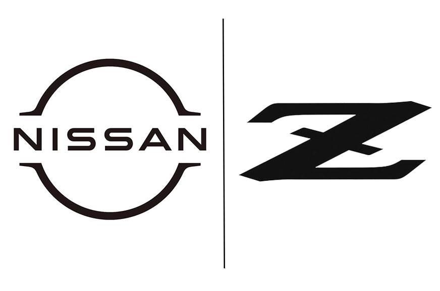 Left: New Nissan logo; Right: New 'Z' logo.