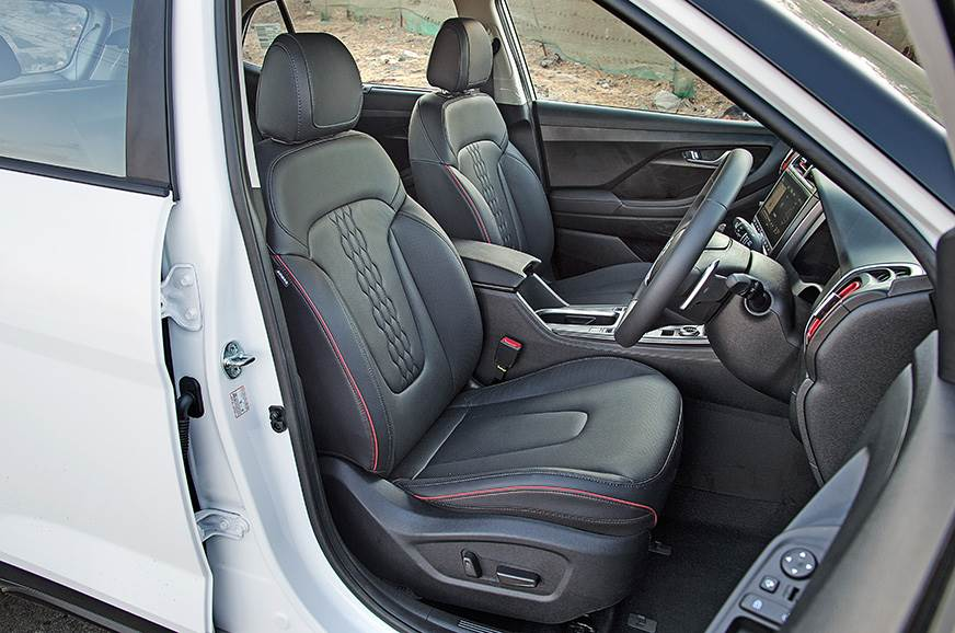 Big front seats are comfy and suit all frames and sizes.