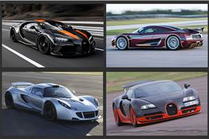 World's fastest production cars