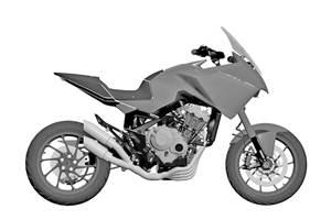 Honda patents the CB4X adventure-sport motorcycle