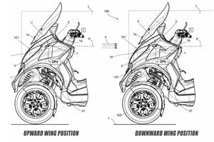 Piaggio patents new active aero wing technology