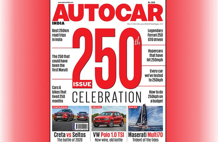 Autocar India June 2020 250th Celebration issue  – ...