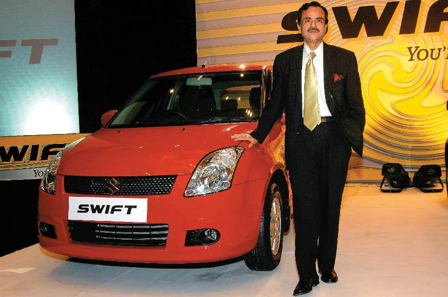 The Swift being launched by Maruti's Jagdish Khattar; it ...