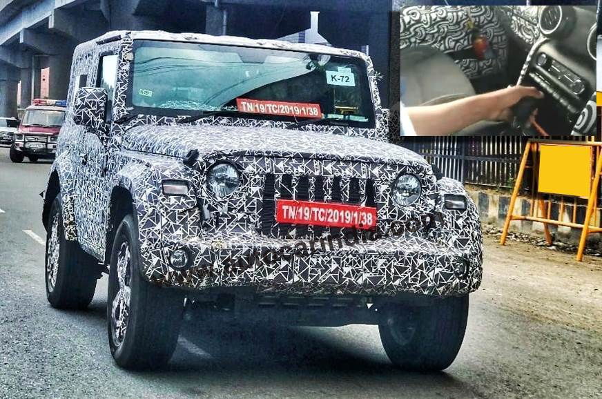 Mahindra Thar diesel-automatic spied on test