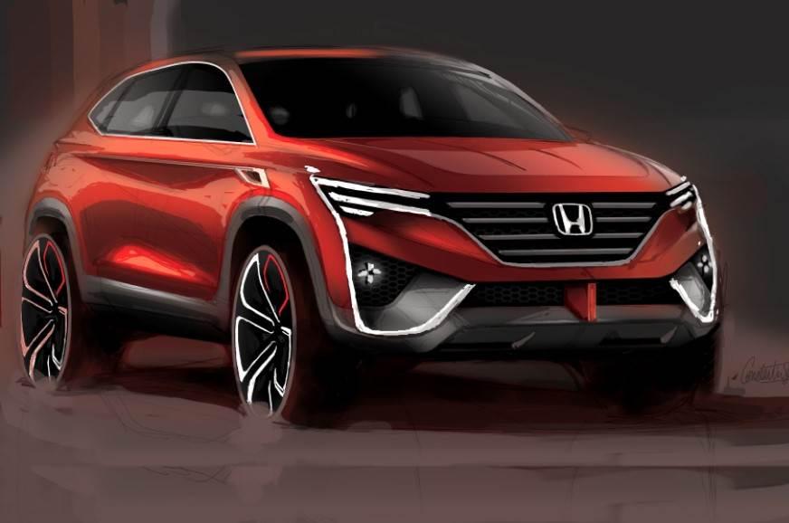 Future Honda SUV computer generated rendering.