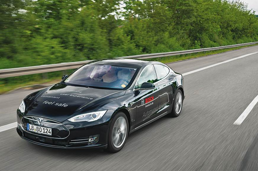 Driving the autonomous Tesla Model S by Bosch