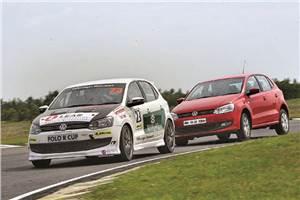VW Polo vs Polo R Cup car