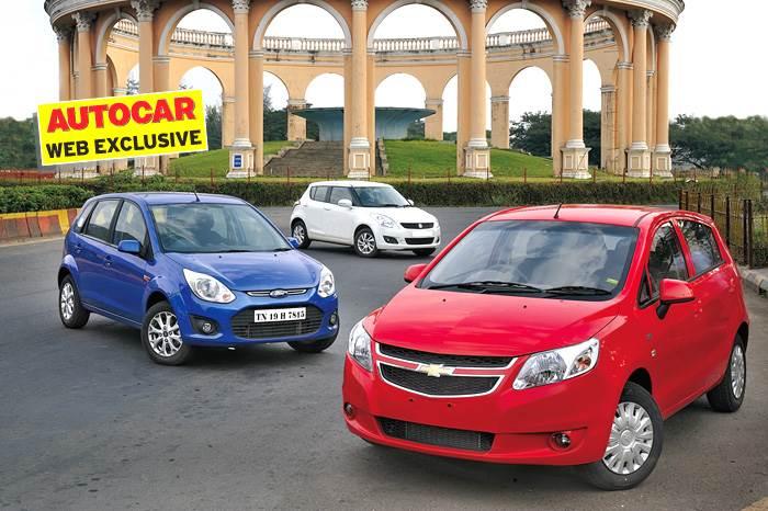 Chevrolet Sail U-VA vs Maruti Swift vs Ford Figo