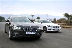 Mercedes Benz E 250 CDI vs BMW 520d comparison