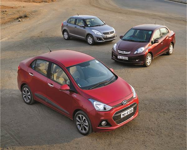 Hyundai Xcent vs Maruti Swift Dzire vs Honda Amaze comparison