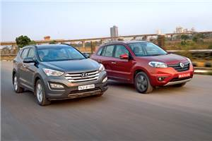 New Hyundai Santa Fe vs Renault Koleos comparison