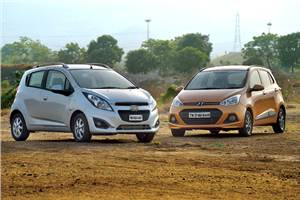Chevrolet Beat diesel vs Hyundai Grand i10 diesel comparison