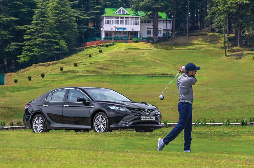 Teeing off at one of India'shighest golf courses in Naldehra.